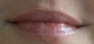 auf den Lippen